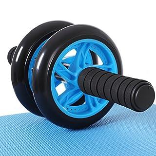 SONGMICS Unisex Adult SPU75P Roller Bauchtrainer AB Wheel für Fitness Bauchmuskeltraining Muskelaufbau Bauchroller für Frauen und Männer (Blau), 32 x 14,5 cm