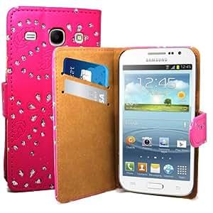 Accessory Master Etui en Cuir pour Samsung Galaxy Core i8262 Motif Livre Style/Strass de Diamant
