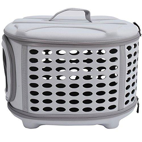 PawHut D1-0166 Transporttasche für Tiere, lichtgrau - 3
