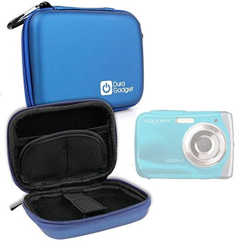 "Buyus-Funda rígida para Easypix Aquapix W1024-I Splash cámara Digital 2,4""10Mpix-Mosquetón extraíble, por DURAGADGET"