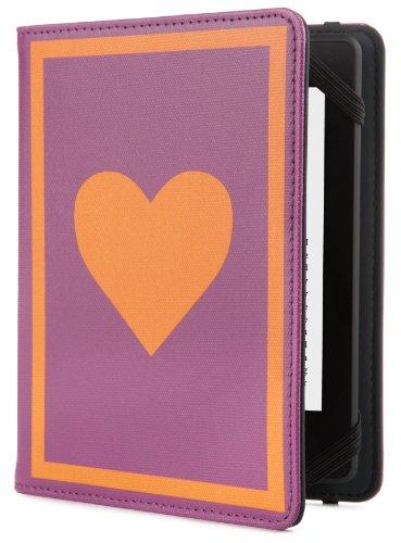 Jonathan Adler Hülle für Kindle, Kindle Paperwhite und Kindle Touch, Peace Love Violett/Orange