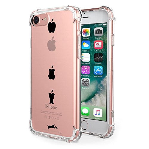 Custodia Iphone 7 Silicone Fiori Morbido Cover Iphone 7 Semplici