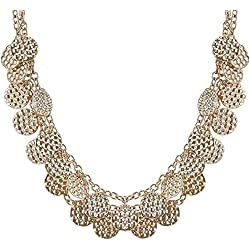 The Trunk Label Chain Necklace for Women (Golden) (PTSUB-100481)
