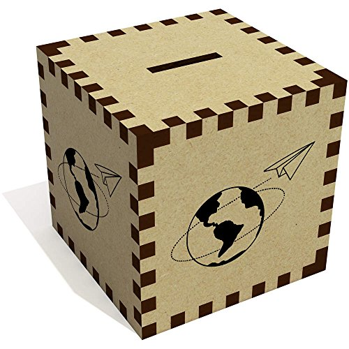 'Avion Papel Mundo' Caja Dinero / Hucha MB00062233