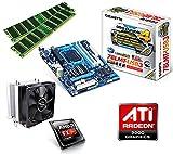 One PC Aufrüstkit | AMD FX-Series Bulldozer FX-8350, 8x 4.00GHz | montiertes Aufrüstset | Mainboard: Gigabyte GA-78LMT-USB3 | 16 GB RAM (2 x 8192 MB DDR3 Speicher 1600 MHz) | CPU Mainboard Bundle | Grafik: ATI Radeon HD 3000 | komplett fertig montiert!