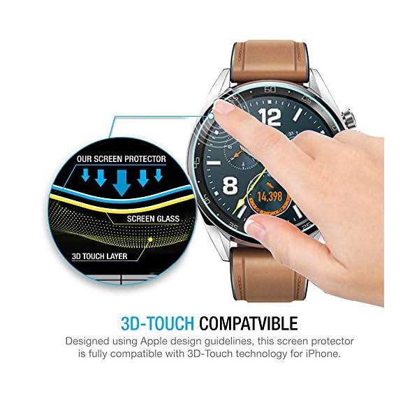 Ferilinso Protector de Pantalla para Huawei Watch GT, [4 Pack] [Vidrio NO Templado] Protector de Pantalla de Repuesto de Alta sensibilidad Full Coverage 3D Pet Película 2