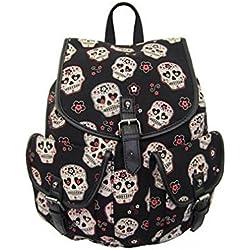 Banned Apparel - mochila con diseño de Calaveras de estilo Gótico