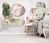 HONGYUANZHANG Individualisiertes Abstraktes Flamingo Tapete Des Foto-3D Künstlerische Landschafts-Fernsehhintergrund-Tapete,24Inch (H) X 32Inch (W)