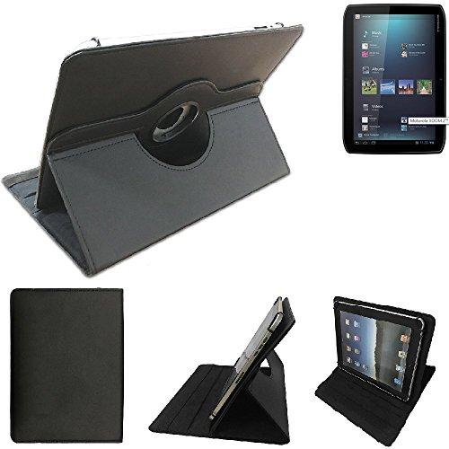 K-S-Trade Motorola Xoom 2 Schutz Hülle 360° Tablet Case Schutzhülle Flip Cover für Motorola Xoom 2, schwarz. Tablet Hülle drehbar Standfunktion Ultra Slim Bookstyle Tasche Kunstleder