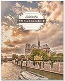 DÉKOKIND Vokabelheft   DIN A4, 84 Seiten, 2 Spalten, Register, Vintage Softcover   Dickes Vokabelbuch   Motiv: Paris Notre Dame