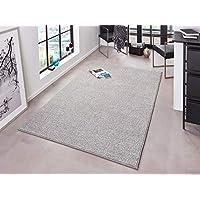 Gris alfombras alfombras y moquetas hogar - Alfombras comedor amazon ...
