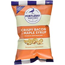 Portlebay Popcorn Crispy Bacon & Maple Syrup, 8 x 25g