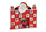 CEBEGO Holz Adventkalender zum selbst Befüllen,Adventskalender Nikolaus Design mit 24 Schubläden Weihnachten
