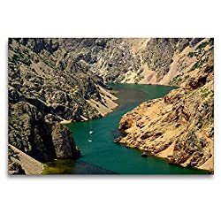 Premium Textil-Leinwand 120 x 80 cm Quer-Format Zrmanja | Wandbild, HD-Bild auf Keilrahmen, Fertigbild auf hochwertigem Vlies, Leinwanddruck von LianeM