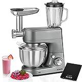 Bomann KM 1373CB–Küchenmaschine mit Mixer Handmixer, Fleischwolf, Standmixer, Pasta, 1000W + Waage Küche