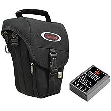 Cámara de fotos funda–Cabestro M + Batería de repuesto LP-E8para EOS 700d 600d Incluye EF-S 18–55mm
