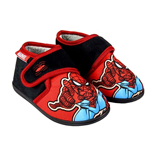 Closed Slippers Boys Marvel Spiderman Avengers | Velcro Strap | Sizes from 4 to 9