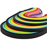 imisno papel Quilling Tiras Set 1040tiras 26colores (3/5/7/10mmx38cm, Paquete de 4juegos), multicolor, 3mm,5mm,7mm,10mm