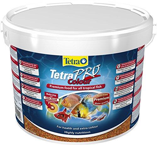 Tetra Pro Colour Premiumfutter (für alle tropischen Zierfische, Farbkonzentrat für hervorragende natürliche Farbausprägung, hoher Gehalt an Carotinoiden für farbverstärkende Wirkung), 10 Liter Eimer