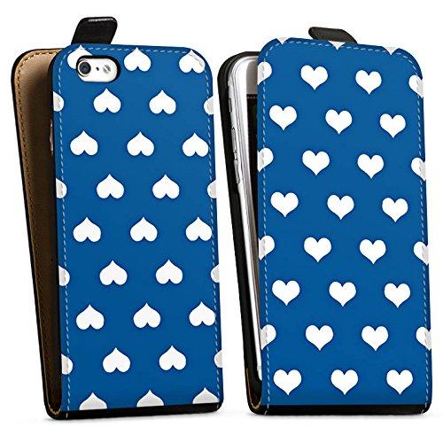 Apple iPhone X Silikon Hülle Case Schutzhülle Herzchen Polka Muster Downflip Tasche schwarz