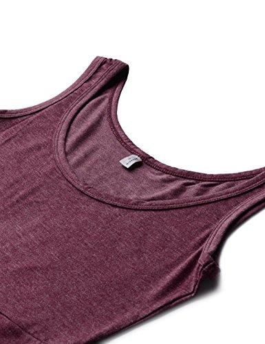 NEARKIN Damen Kleid, gemustert NKNKWMD735-WINE