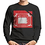 San Siro Football Stadium Overhead AC Milan Men's Sweatshirt