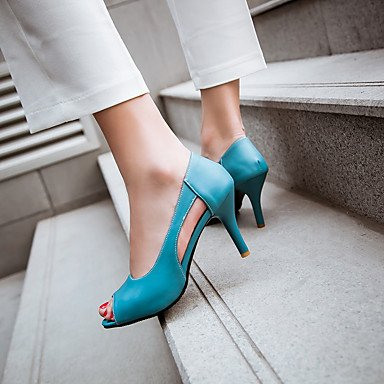 LvYuan Da donna-Sandali-Ufficio e lavoro Formale Serata e festa-Club Shoes-A stiletto-PU (Poliuretano)-Blu Giallo Rosa Pink
