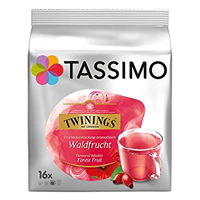Tassimo Twinings Infusion Saveur Fruits des Bois, 16 T-Discs