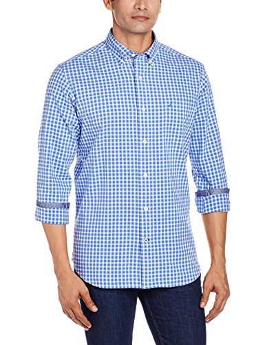 Nautica Men's Casual Shirt (8907259926568_NTW61601H42F_Large_French Blue)