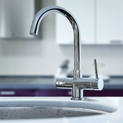 Chrom Instant Hot/Kochendes Wasser Küche Wasserhahn 3 in 1 kaltes Wasser Filter & Heizung Tank - 4