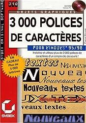 3000 polices de caractères pour Windows 95/98. CD-Rom