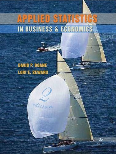 Applied Statistics in Business & Economics with Student CD (McGraw-Hill/Irwin Series, Operations and Decision Sciences) by David Doane (2008-01-22)
