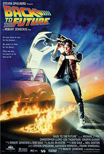Close Up Zurück in die Zukunft Poster Michael J. Fox (61cm x 91,5cm) + 2 St. Schwarze Posterleisten mit Aufhängung