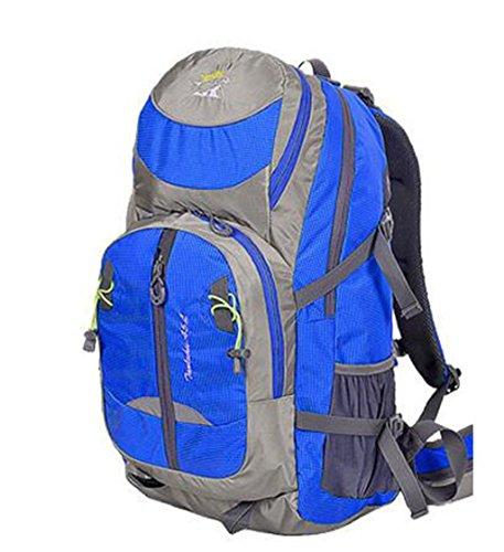 zaino trekking rampicanti esterni della spalla borsa uomini e donne zaino da viaggio uomini e donne campeggio trekking sacchetto impermeabile Zaini da escursionismo ( Colore : Blu , dimensioni : 40L ) Blu