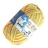 Masterein Multi Color Warm DIY Milch Baumwollgarn Baby-Pullover Garn Knitting Kinder Handgestrickte Strickdecke Häkelgarn