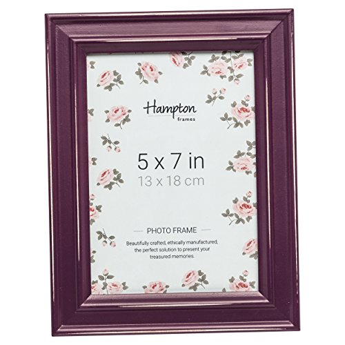 Hampton Frames pal301957a Paloma Bilderrahmen 5x 7(13x 18cm) Aubergine Lila Burgund Bemalt Holz, Used Finish. Drop in Rücken mit Drehgelenk Clips. 30mm Breit Country Shabby Chic Design