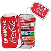 Regalo Lip Smacker Coca-Cola (Coca-Cola Classic, Vanilla Coke, Sprite, Fanta Naranja, Fanta Fresa, Fanta Piña), 6 piezas