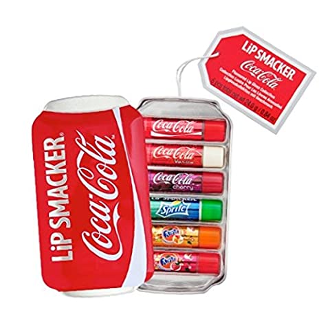 LiP SMACKER Coffret Cadeau Boîte Métal Coca Cola Canette 6