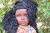 "Sammar Gifts LARGE 16"" BABY GIRLS AFRO AFRICAN BLACK DOLL REAL LOOK 40CM"