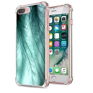 Neivi iPhone7 Plus Case, Reinforced Corners Creative Patterns Ultra Slim Soft TPU Silicone Anti-Scratc Bumper (Feather)
