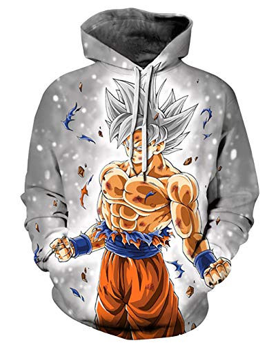 SUDADERAS 3D CON CAPUCHA DE DRAGON BALL SUPER
