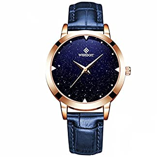 Quarzuhr-Damen-Wasserdicht-Damen-Armbanduhr-Creative-Starlight-Zifferblatt-Geburtstag-Geschenk-mit-Band-aus-echtem-Leder