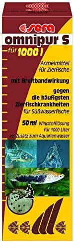 Sera Omnipur S Läkemdel mot Prydnadsfiskssjukdomarna i Sötvattenakvarium, 50 ml