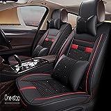 Car Seat Covers Autositz Ice Silk Leder Gehobenen Vier Jahreszeiten Kissen Alle Leder Split Ice Silk Auto Supplies,Black
