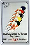 Fahrradrennen Paris 1947 Fahrrad Rennrad Blechschild 20 x 30 Retro Blech 1804