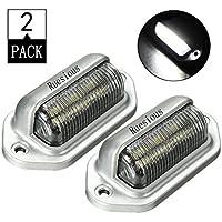 Ruesious Luz de matrícula, Lámparas de matrícula, Lámparas de matrícula 6 SMD LED Lámina de matrícula para camioneta SUV Semirremolque, luces de cortesía, domo / luces de carga o luz de capó 1 año de garantía