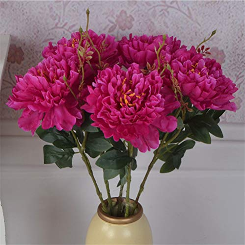 Mddrr fiore di seta artificiale fiore di peonia bouquet per tavolo da sposa accessori decorazione domestica decorazioni natalizie fiori finti viola 2pz