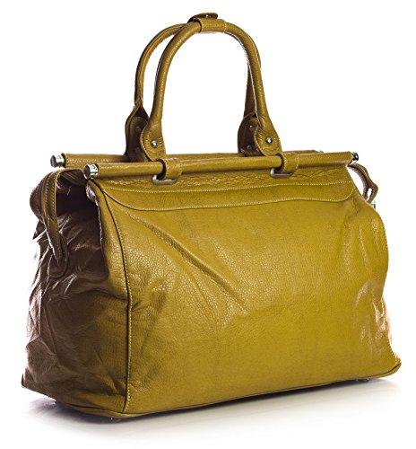 Big Handbag Shop ,  Damen handtaschen Mustard (PL151)