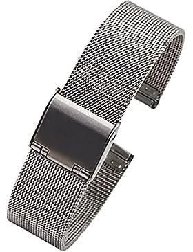 NEU Hohe Qualität Edelstahl Milanaise mesh uhrenarmband Silber 8mm