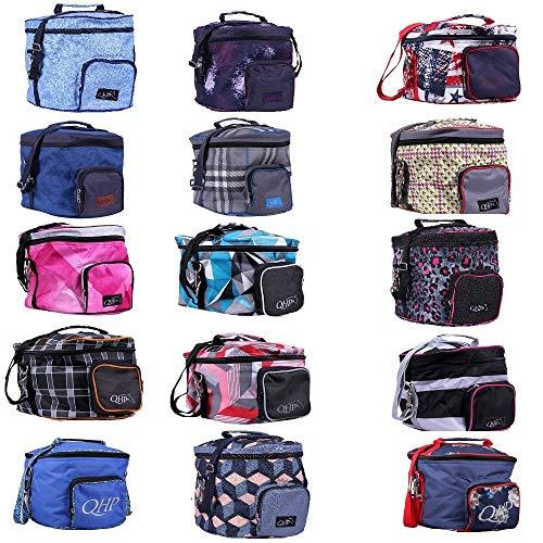 netproshop Reithelmtasche, Helmtasche in Modernen Designs Reitsport Auswahl, Farbe:Royal Black -